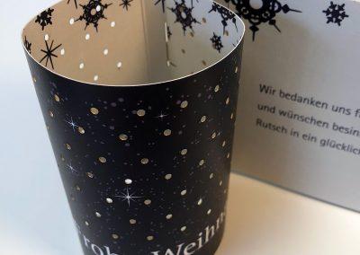 "Weihchnachtskarte ""Light me"""